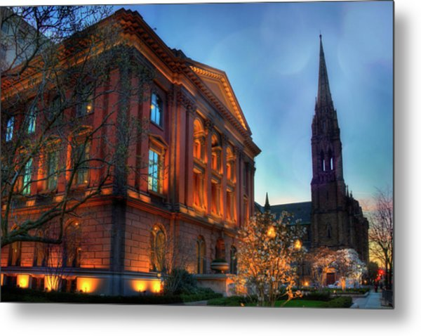 Restoration Hardware - Back Bay - Boston Metal Print by Joann Vitali