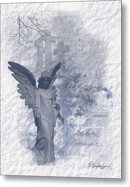 Resurrection Angel Metal Print by Jean Gugliuzza