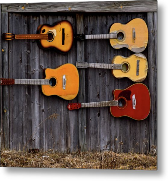 Retired Guitars  Metal Print