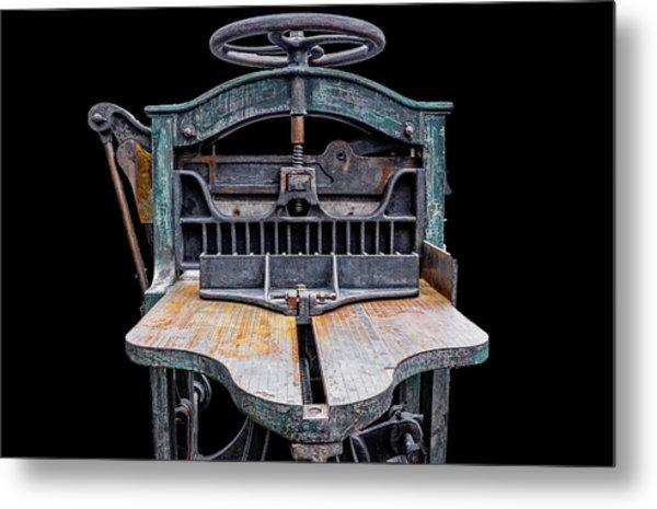 Retired Table Saw Metal Print by Joseph Sassone
