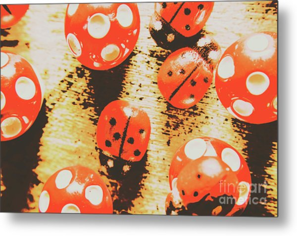 Retro Art Bug Metal Print