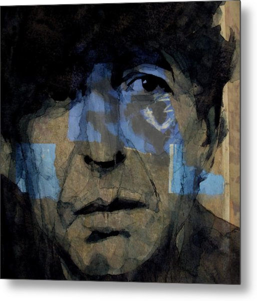 Retro- Famous Blue Raincoat  Metal Print