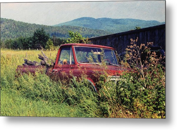 Retro Ford Metal Print by JAMART Photography