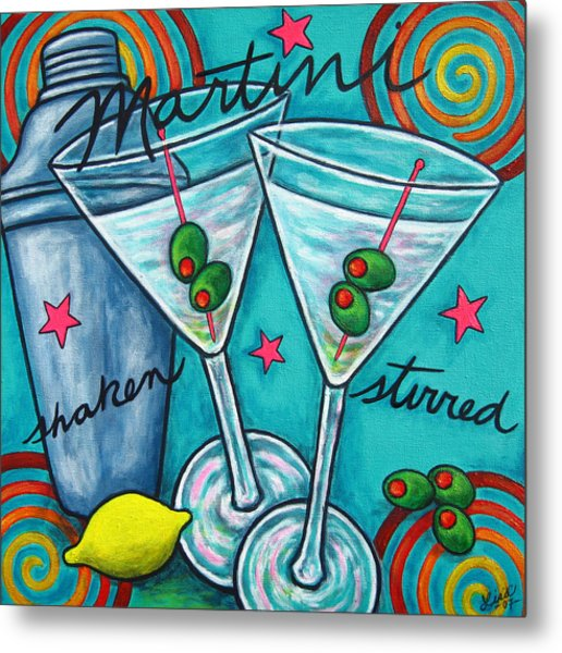 Retro Martini Metal Print