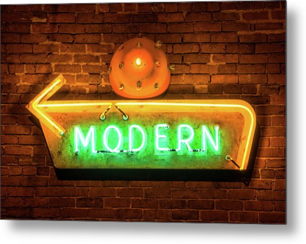 vintage neon arrow sign on brick wall photograph by gregory ballos