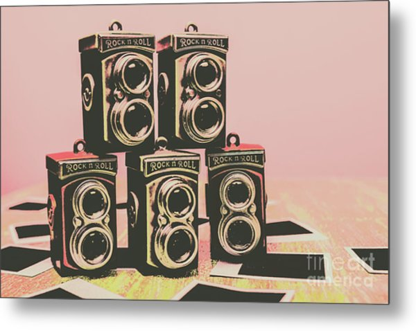 Retro Photo Camera Pop Art  Metal Print