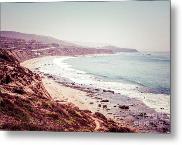 Retro Photo Of Laguna Beach California Metal Print by Paul Velgos