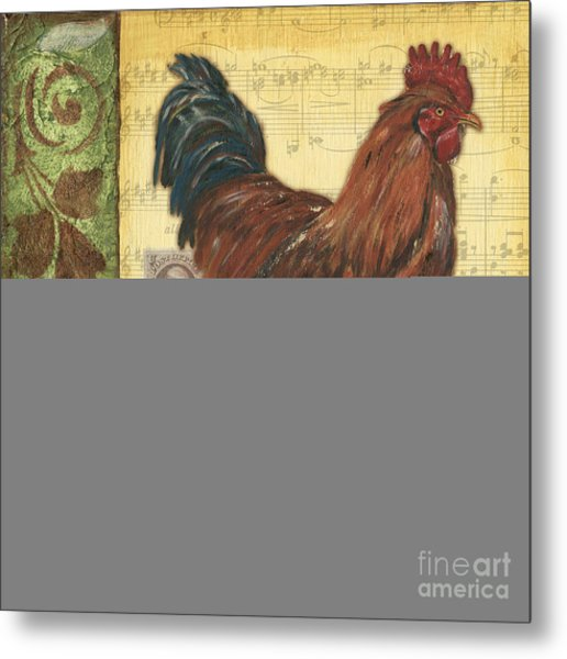 Retro Rooster 2 Metal Print