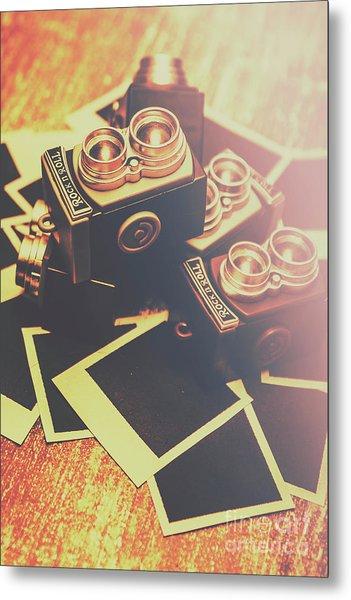 Retro Twin Lens Reflex Cameras Metal Print