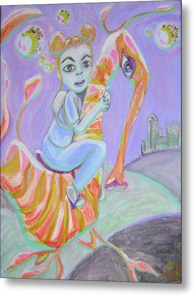 Return Of The Prodigal Water Baby Metal Print by Michelley QueenofQueens