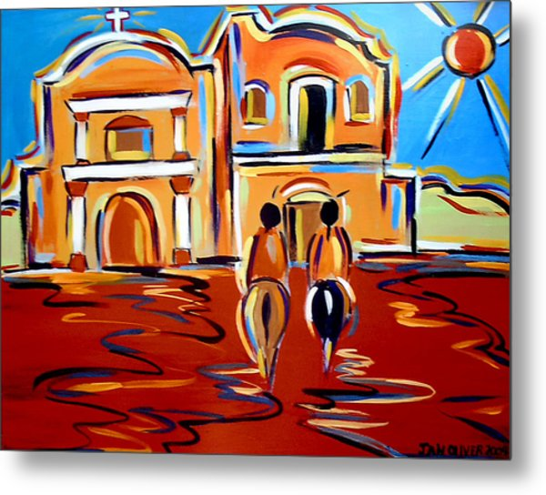Return To The Mission Metal Print