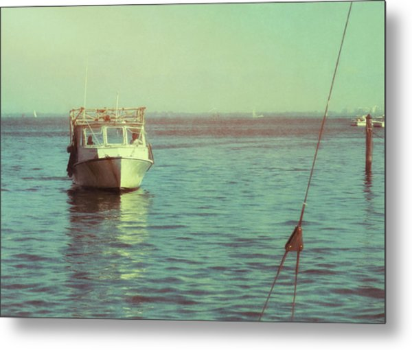 Returning To Port Metal Print by JAMART Photography
