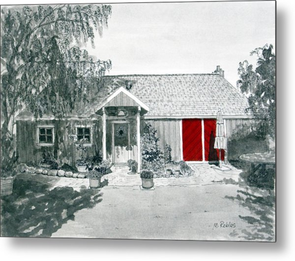 Retzlaff Winery With Red Door No. 2 Metal Print