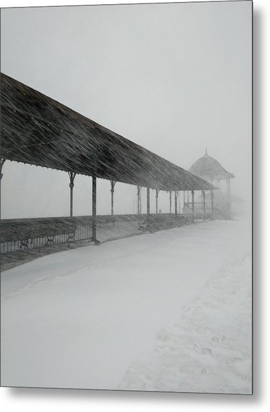 Revere Beach Nor'easter -jan 4,2018 Metal Print