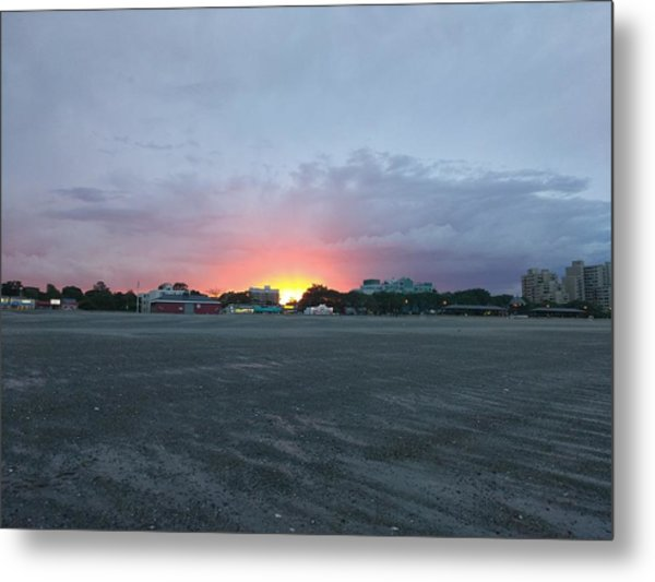 Revere Beach Sunset Metal Print