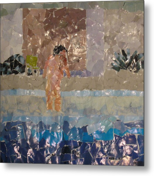 Reverse Pool Action Metal Print by Frankie Graham