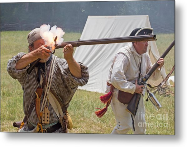 Revolutionary War Reenactment Metal Print