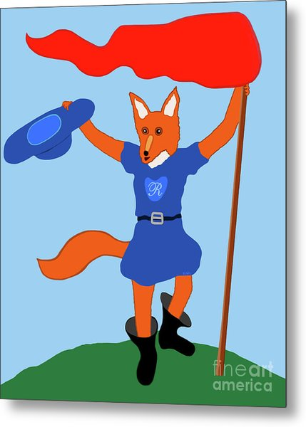 Reynard The Fairy Tale Fox Metal Print