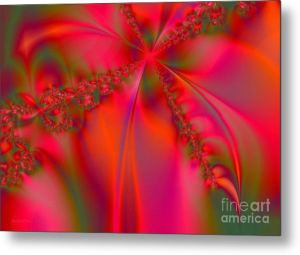 Rhapsody In Red Metal Print