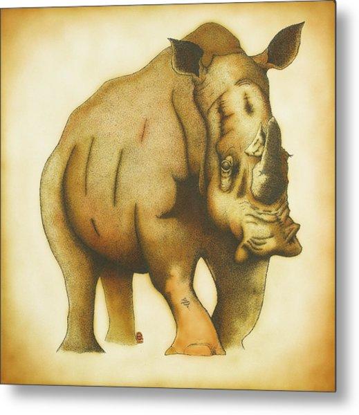 Rhino Metal Print by Erik Loiselle