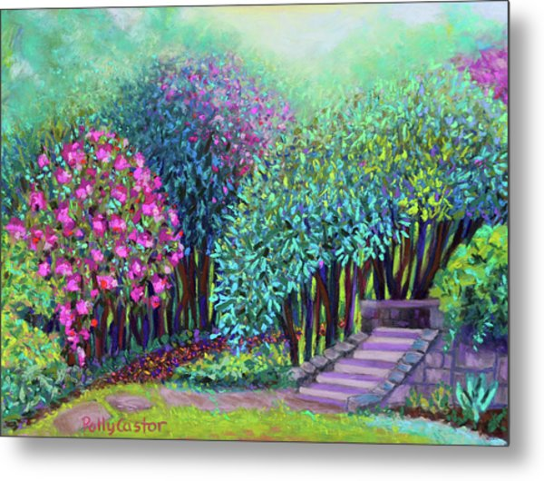Rhododendrons In The Sunken Garden Metal Print