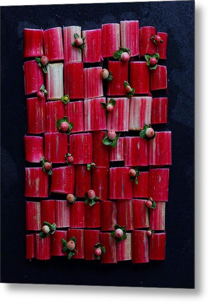 Rhubarb Wall Metal Print