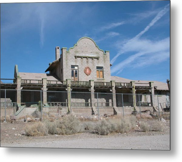 Rhyolite Station Metal Print by William Thomas