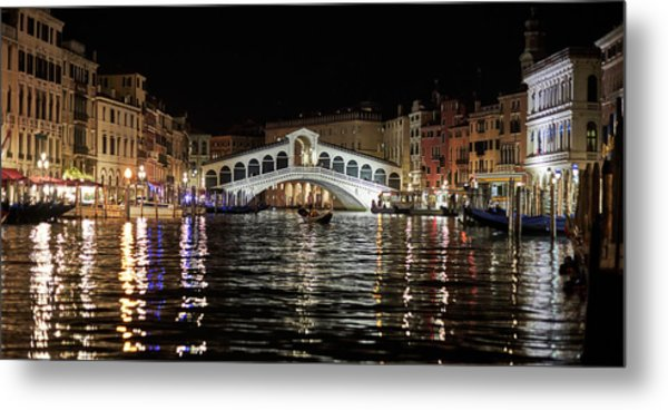 Rialto Night - 4284 Metal Print