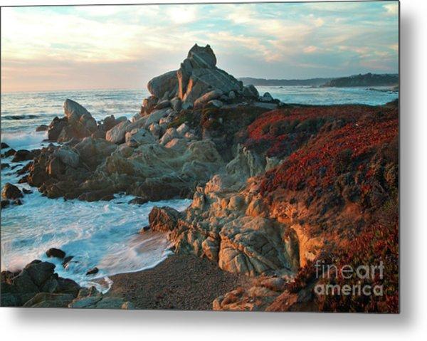 Ribera Beach Sunset Carmel California Metal Print