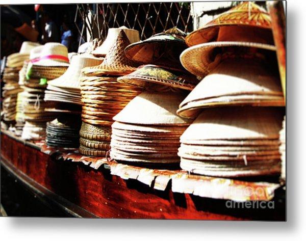 Rice Hats Metal Print