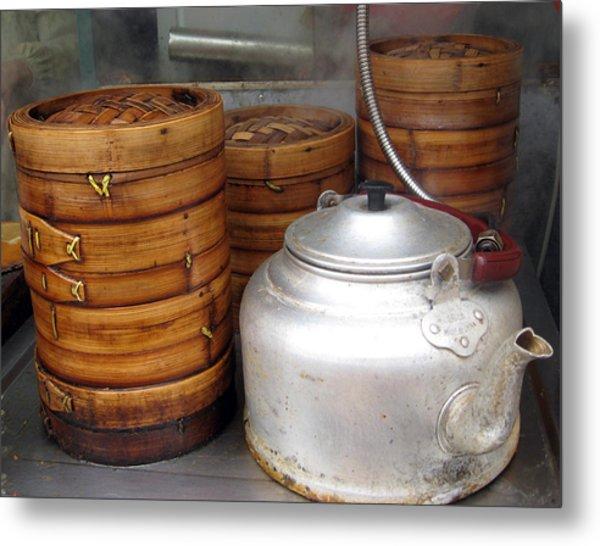 Rice Steamers Metal Print