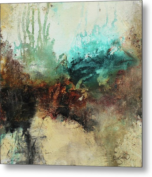 Rich Earth Tones Abstract Not For The Faint Of Heart Metal Print
