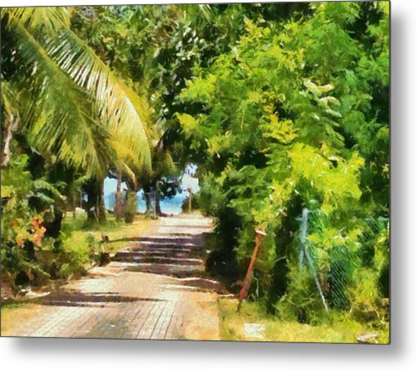 Rich Green Path Metal Print