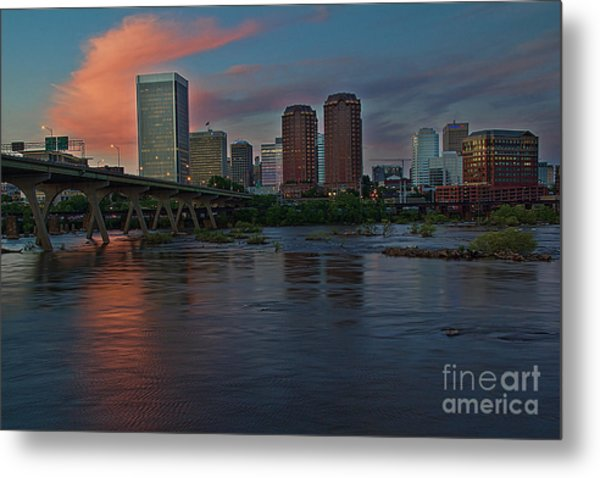 Metal Print featuring the photograph Richmond Dusk Skyline by Jemmy Archer