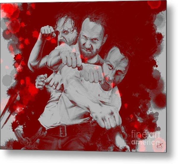 Rick Grimes Metal Print