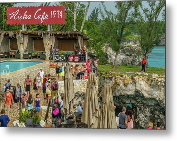 Rick's Cafe In Negril, Jamaica Metal Print