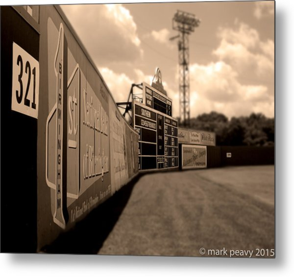 Rickwood Field Fence Metal Print