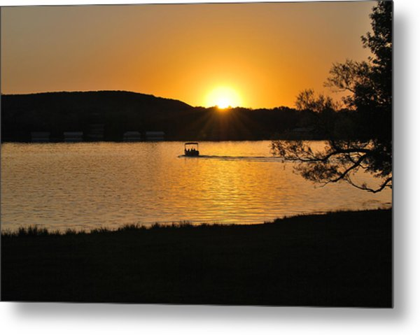 Ride Into The Sunset Metal Print by Teresa Blanton