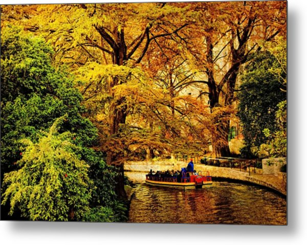 Ride On The Boat Metal Print by Iris Greenwell