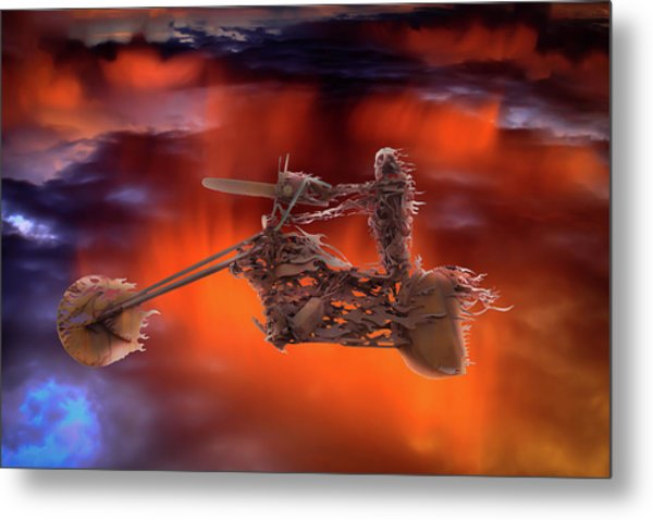 Rider In The Sky Metal Print