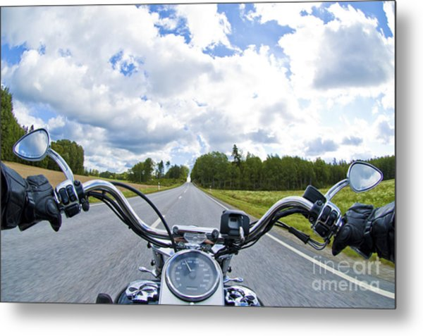 Riders Eye View Metal Print