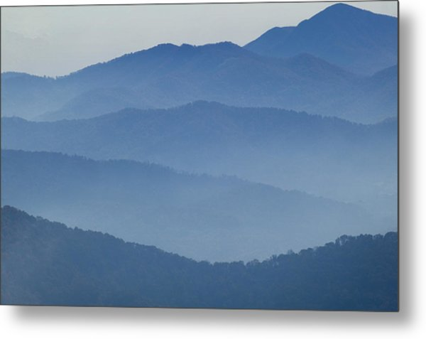 Ridgelines Great Smoky Mountains Metal Print
