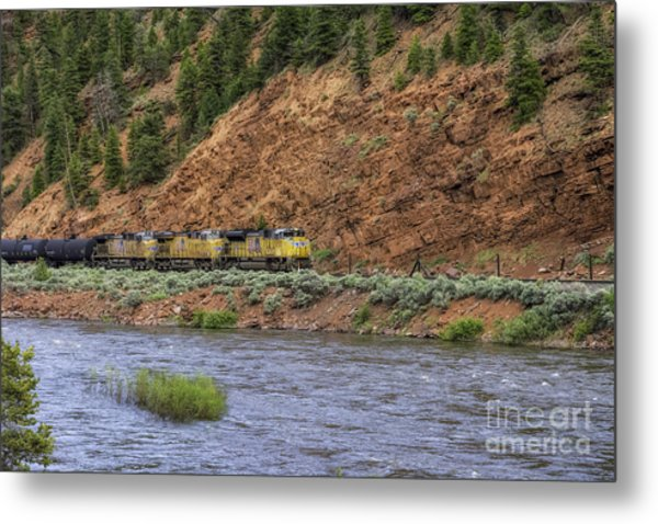 Ridin' The Rails Metal Print