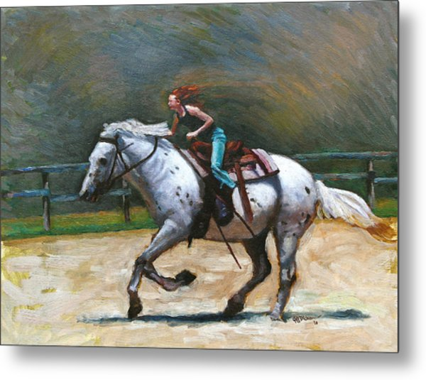 Riding Dollar Metal Print