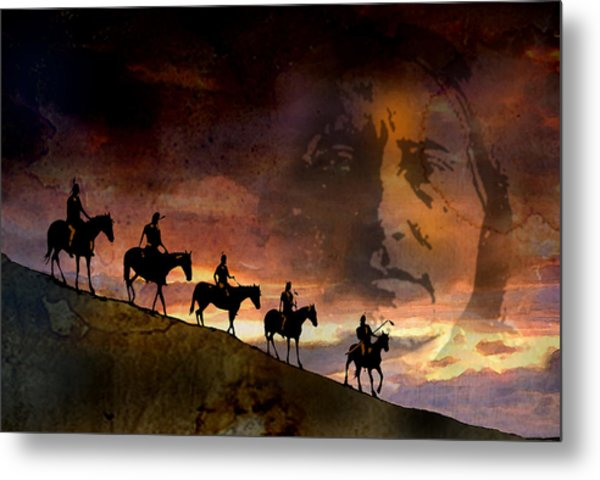 Riding Into Eternity Metal Print