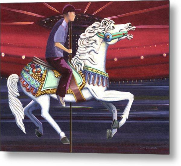 Riding The Carousel Metal Print