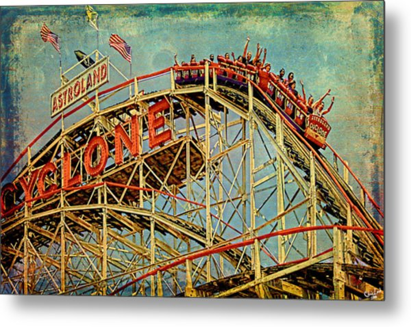 Riding The Cyclone Metal Print