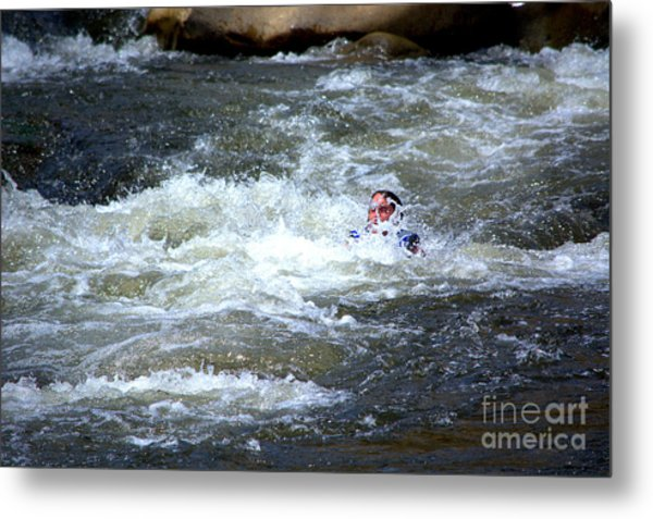 Riding The Flume Metal Print