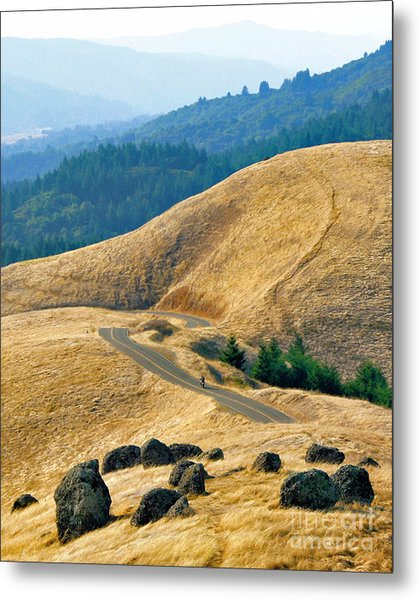 Riding The Mountain Metal Print