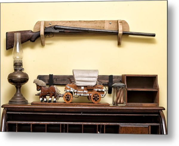 Metal Print featuring the photograph Rifle by Linda Constant